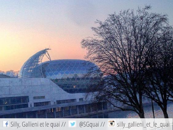 Soleil couchant sur La Seine Musicale @JP Couard