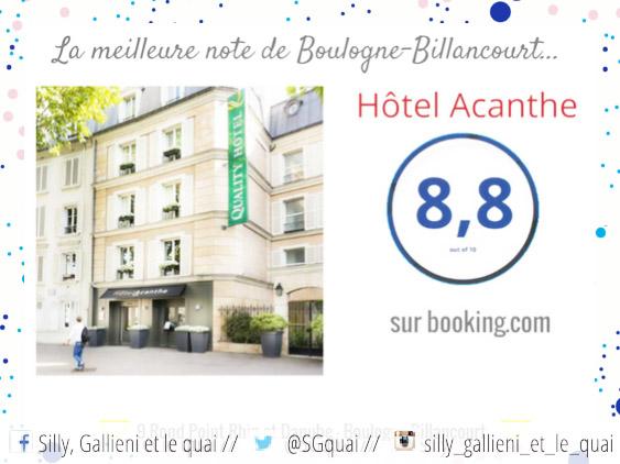 Hotel Acanthe sur Booking.com @Silly, Gallieni et le quai