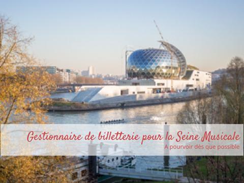 Gestionnaire de la billeterie sur la Seine Musicale @Silly, Gallieni et le quai