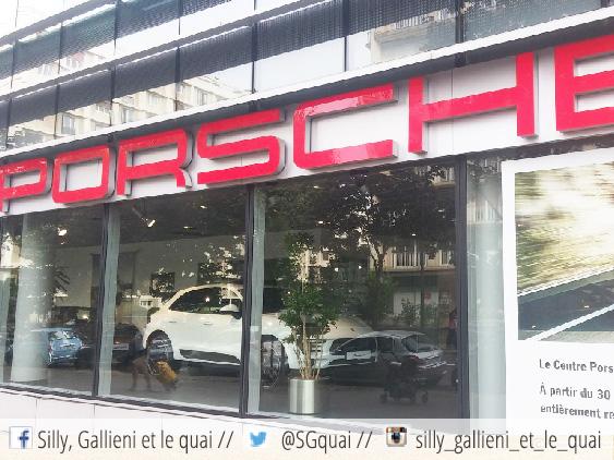 Porsche quitte le quartier @Silly, Gallieni et le quai