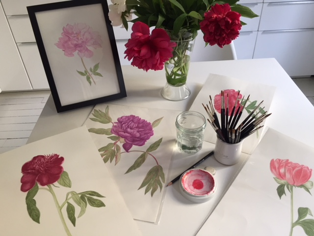 atelier aquarelle botanique @Silly, Gallieni et le quai