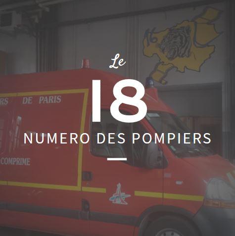 Numéro des pompiers : le 18