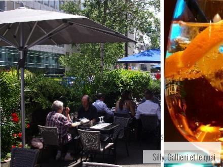 Un spritz en apéro à la Bella Vita @Silly, Gallieni et le quai