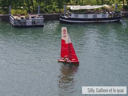 Le bateau de Voile en Seine @Silly, Gallieni et le quai