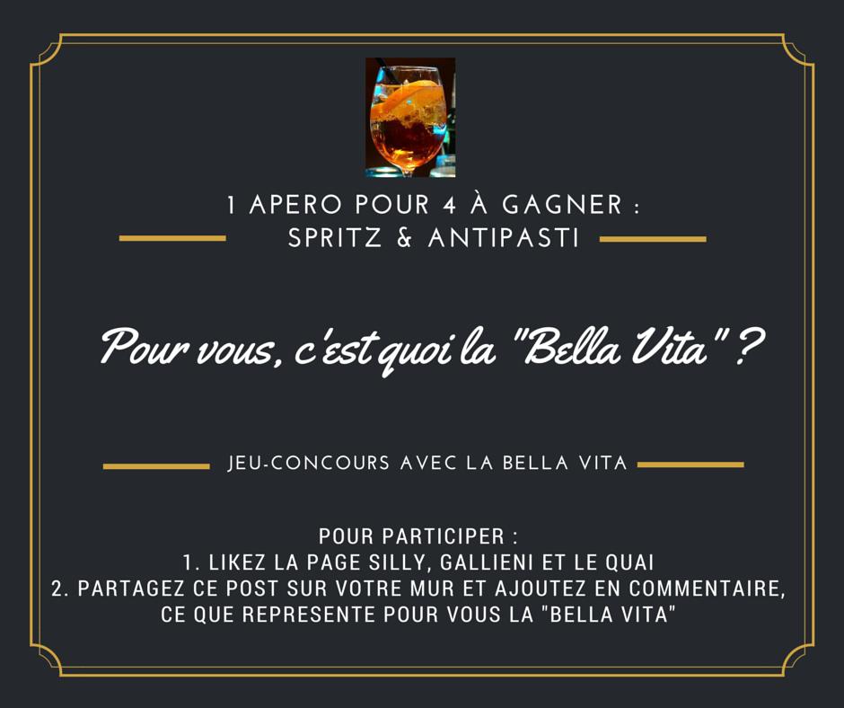 Jeu-concours Bella Vita