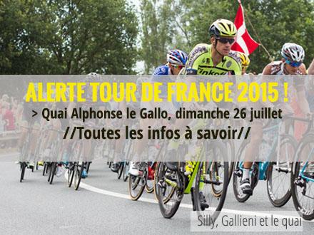 Tour de France 2015 : dernière étape par le quai Alphonse le Gallo @Silly, Gallieni et le quai