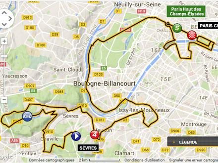 Le tracé de la dernière étape du Tour de France - Quai Alphonse le Gallo