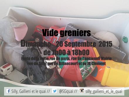 Vide greniers du 20 septembre 2015 @Silly, Gallieni et le quai