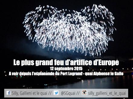 Le plus grand feu d'artifice d'Europe @Silly, Gallieni et le quai