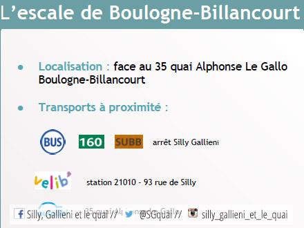 L'escale de Boulogne-Billancourt - Quai Alphonse le Gallo @Espaces