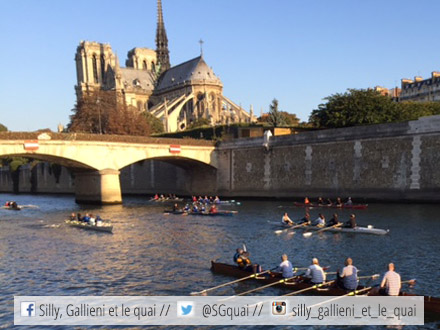 Traversée de Paris et des Hauts-de-Seine : devant Notre-Dame de Paris