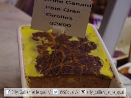 La terrine de canard au foie gras et aux girolles @Silly, Gallieni et le quai