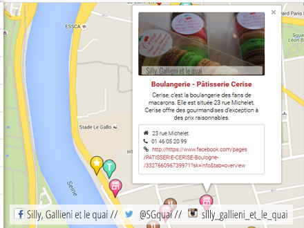 La carte interactive de Silly, Gallieni et le quai @Silly, Gallieni et le quai