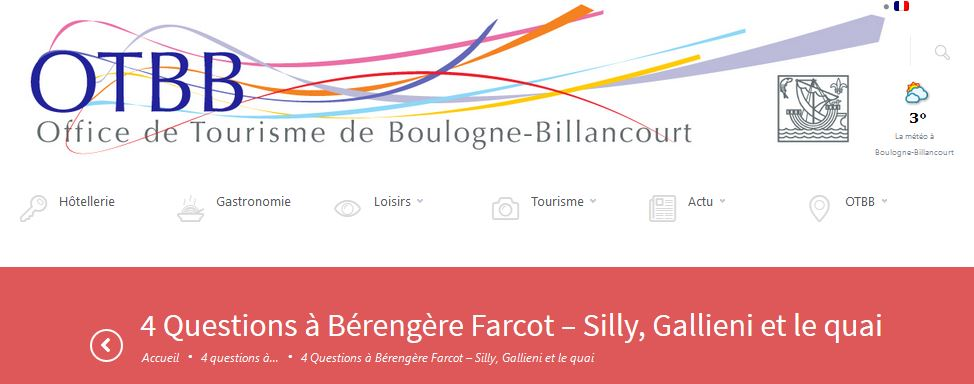 Interview de l'office de tourisme de Boulogne-Billancourt