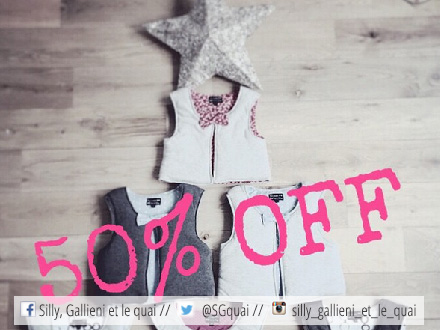 -50% sur tous les gilets de Because I'am little