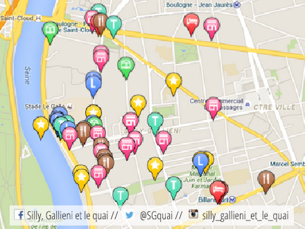 Carte interactive Silly, Gallieni et le quai