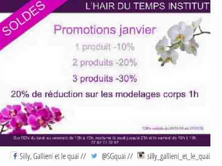 Les promotions de janvier de l'Hair du temps institut