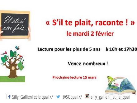 Atelier de lecture dans la bibliothèque de Boulogne-Billancourt @Silly, Gallieni et le quai