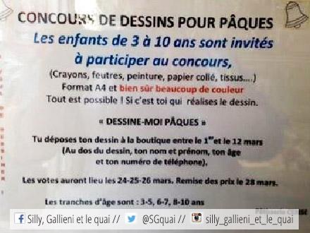 Concours de dessin avec la pâtisserie Cerise @Silly, Gallieni et le quai
