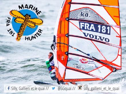 Marine Hunter, windsurf à Boulogne @Silly, Gallieni et le quai