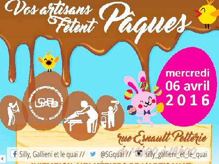 Chasse auc oeufs offerte par les artisans-boulangers de l'UCABB @Silly, Gallieni et le quai