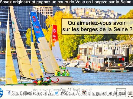 1 cours de voile à gagner avec Voile de Seine @Silly, Gallieni et le quai
