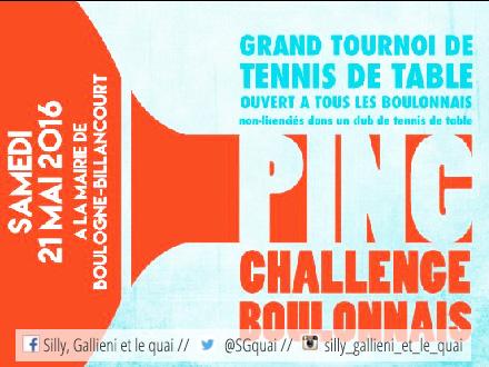 Ping challenge boulonnais à Boulogne-Billancourt @Silly, gallieni et le quai