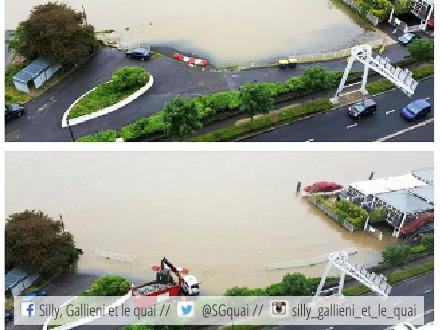 Crue de la Seine à Boulogne-Billancourt @Silly, Gallieni et le quai