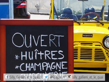 Huîtres et champagne à La mer à Paris @Silly, Gallieni et le quai