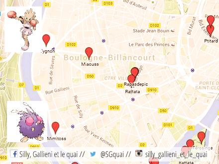 Pokémon Go à Boulogne-Billancourt @Silly, Gallieni et le quai