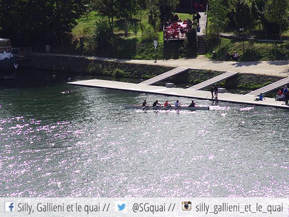 Kayak sur la Seine @Silly, Gallieni et le quai