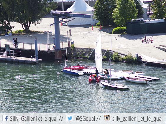 Les bateaux de l'Ile Monsieur @Silly, Gallieni et le quai