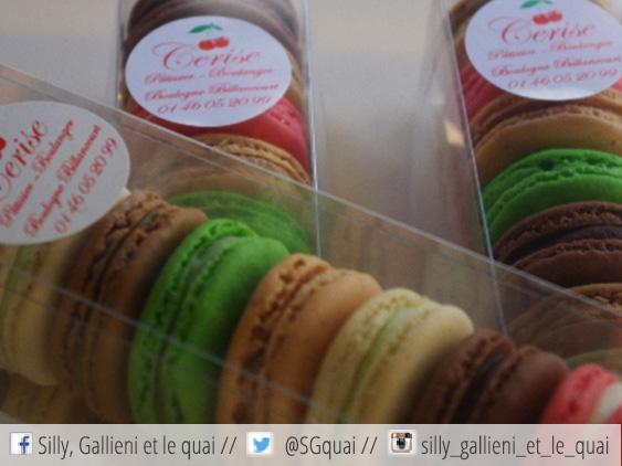 Les macarons de la boulangerie Cerise @Silly, Gallieni et le quai