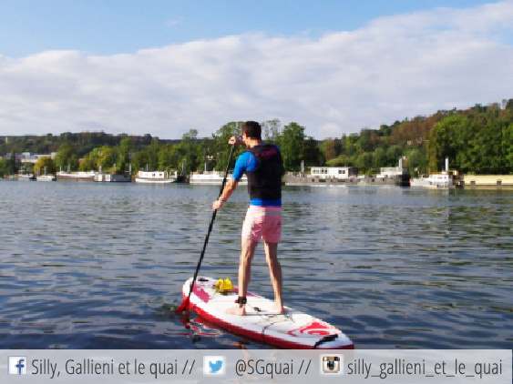 Faire du paddle à Boulogne-Billancourt @Silly, Gallieni et le quai