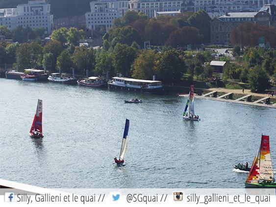 Régate Voiles en Seine @Silly, Gallieni et le quai