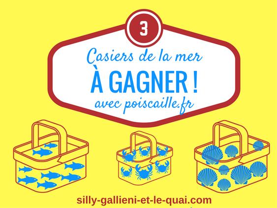 3 casiers de la mer à gagner avec poiscaille.fr @Silly, Gallieni et le quai