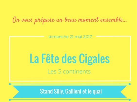 La fête des cigales 2017 @Silly, Gallieni et le quai