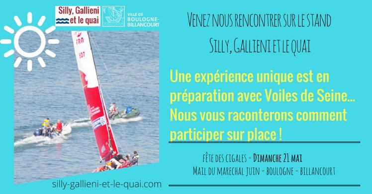Expérience unique avec Voiles de Seine et @Silly, Gallieni et le quai
