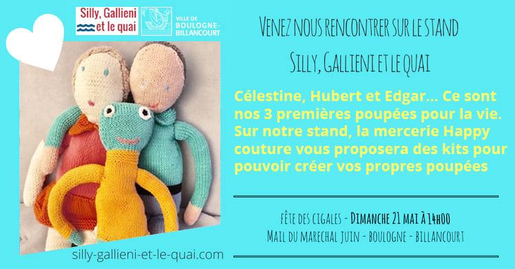 Les kits poupée avec Happy mercerie @Silly, Gallieni et le quai
