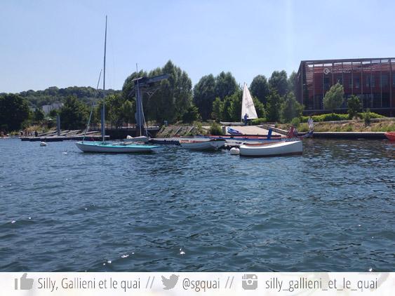 La base nautique de l'ïle Monsieur @Silly, Gallieni et le quai