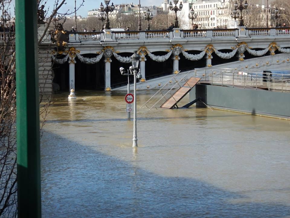 Crue de la Seine - Pont parisien @Elisabeth M.
