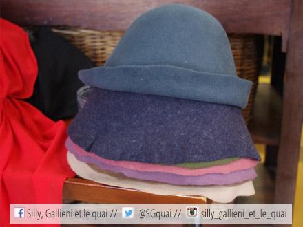Chapeau en feutre @Silly, Gallieni et le quai