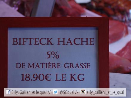 Le steak haché de la Boucherie Didier @Silly, Gallieni et le quai