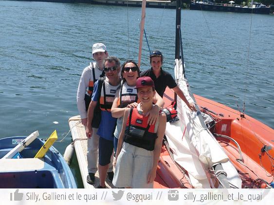 L'équipage de #VoileSurSeine