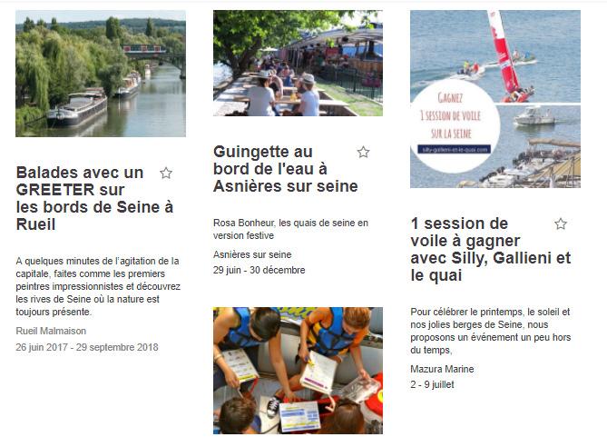 L'agenda des événements Happy Seine @Silly, Gallieni et le quai